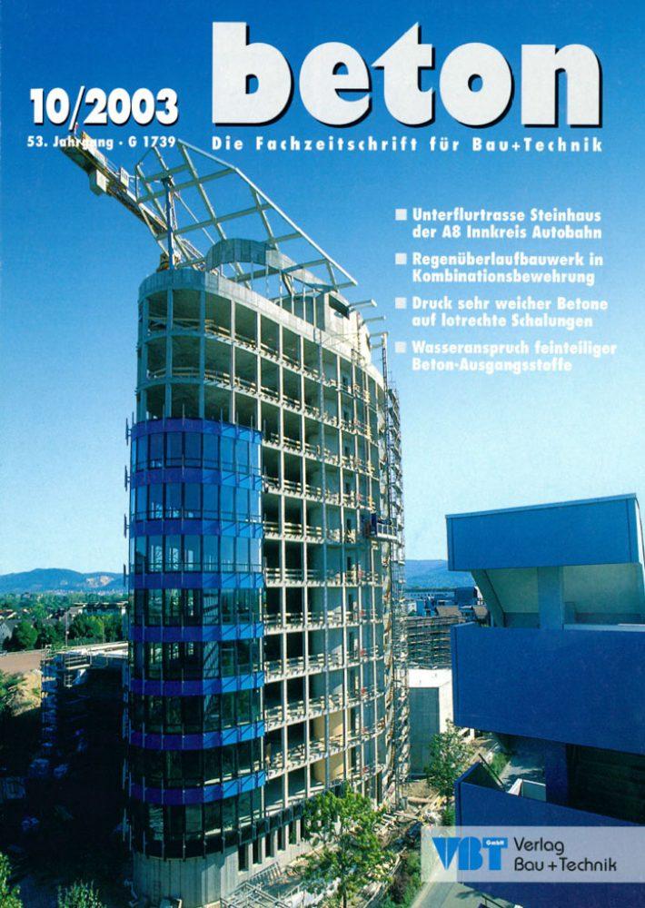 beton – Die Fachzeitschrift für Bau+Technik