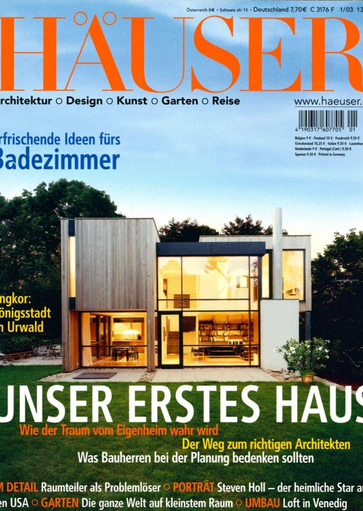 Fachzeitschrift Häuser Heft 1/2003